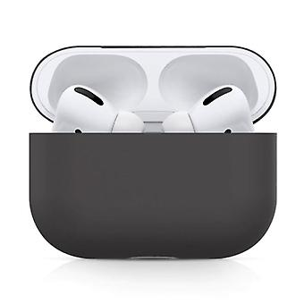SIFREE Flexible Case for AirPods Pro - Silicone Skin AirPod Case Cover Smooth - Black