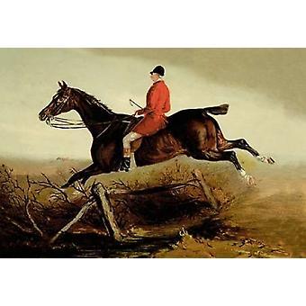 Auf der Jagd 1900 Poster Print von Samuel Sidney