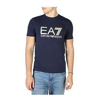EA7 - Clothing - T-Shirts - 3HPT05_PJ03Z_1554 - Men ' midnightblue,yellow - XL