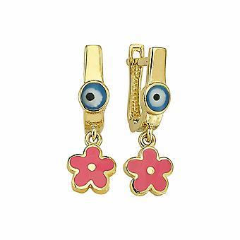 Boucles d'oreilles en or fleur d'enfants