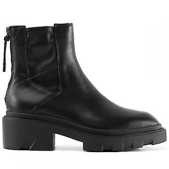 Ash Magma černé kožené kotníkové boty