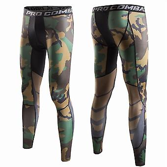 Hommes Running Tights Compress Yoga Pants- Workout Basketball Men's Sports Clothes