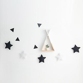 İskandinav Bebek Odası Yatağı Asılı El Yapımı Kreş Yıldız Çelenkleri