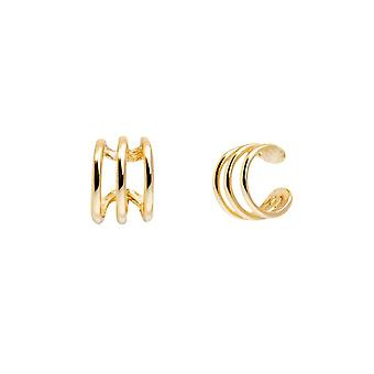 Sterling Silver Plain Ear Gold Helix Cuff, Escalador Doble, Mujeres Rock Punk,