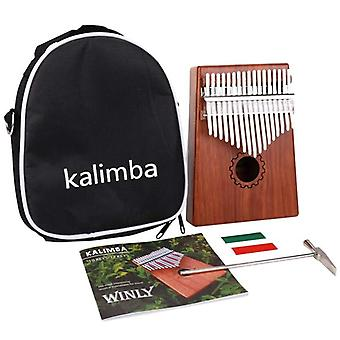 17 Key Kalimba Thumb Piano With Bag For Lover, Beginners
