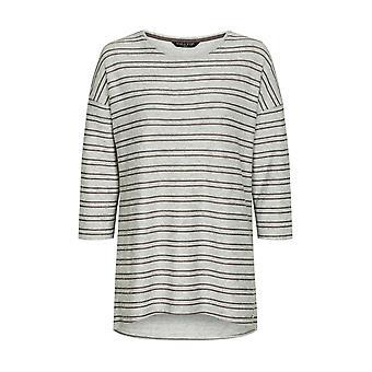 VIZ-A-VIZ Cuello redondo de rayas túnica