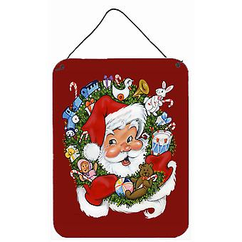 Joulupukin seppele cheer-seinästä tai oven ripustusjälkiä