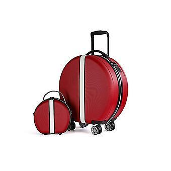 rullende koffert med kosmetisk tilfelle universell hjultur tralle boks og