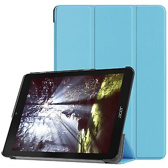 Custer Texture Horizontal Flip PU Leather Case for Acer Chromebook Tab 10, with Three-folding Holder (Blue)
