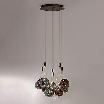 Italux Laundry - Moderno caffè pendente appeso a LED, bianco caldo 3000K 3240lm