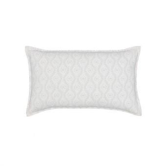 Della Trellis Cushion By Murmur In Cloud Grey