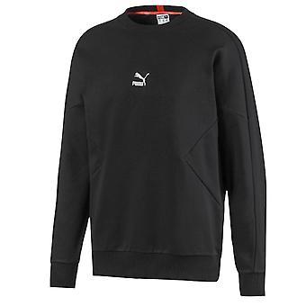 Puma Męskie TFS Bluza z logo Casual Czarny sweter 597328 01