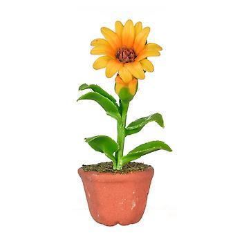 Dolls House Sunflower Plant In Pot Miniature Home Garden Accessory