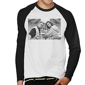 The Big Lebowski The Dude en Walter Bowling Alley Greyscale Men's Baseball Long Sleeved T-shirt