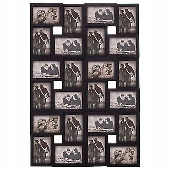 Fotolijst collage - 24 foto's - 86x57 cm - zwart