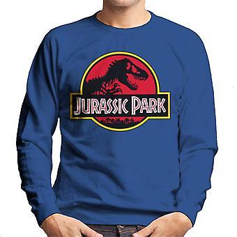 Jurassic Park klassische gelbe Umriss Logo Herren's Sweatshirt