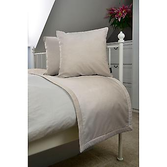 Matt champagne gold velvet bedding set
