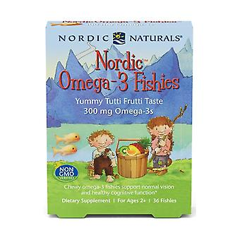 Nordic Omega-3 Fishies, 300mg Yummy Tutti Frutti Taste 36 units