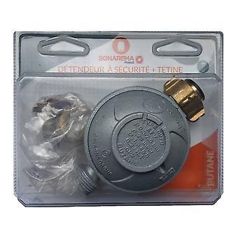 Regulador de gas butano NF 28 Mbar