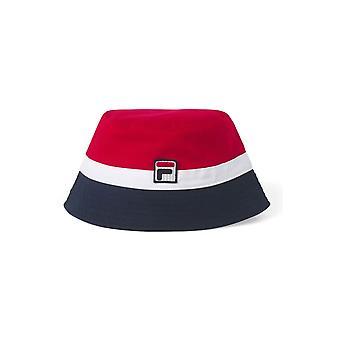Fila Vintage Basil Bucket Hat Chinese Red/white/peacoat