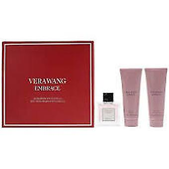 Vera Wang omfamnar rosenknoppar och vaniljgåva set 30ml Eau De Toilette + 75ml duschgel
