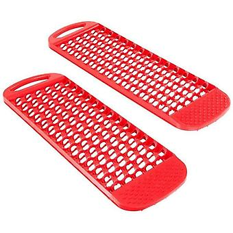 Universal Car Emergency Rescue Anti-skid Board Recovery  (red)