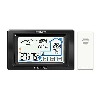 Modern multi-function digital alarm clock, thermometer and outdoor sensor, easy to carry in bedroom office travel