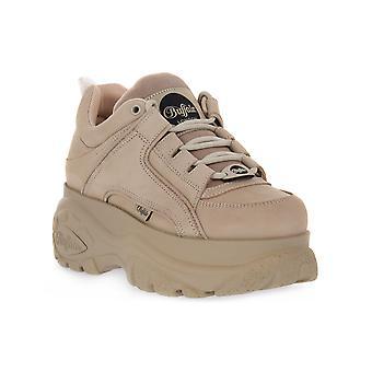 Buffalo 1339 cream noubuck sneakers fashion