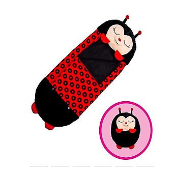 Black Children Sleeping Bag Soft Comfortable Easy To Carry Nap Pillow