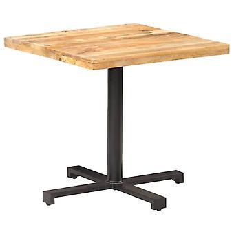 Bistro Table Square 80x80x75 Cm Rough Mango Wood