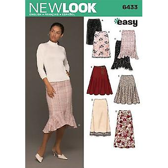 New Look Sewing Pattern 6433 Misses Skirts, Size A (8-10-12-14-16-18)