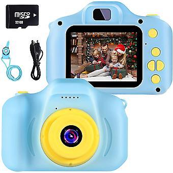 HanFei Kinder Digital Kamera Spielzeug Kleinkind Kamera Spielzeug 2 Zoll HD-Bildschirm 1080P 32 GB