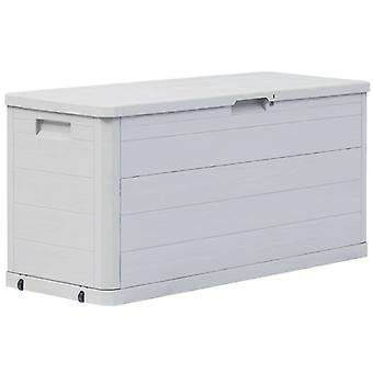 Garden Storage Box 280 L Light Grey