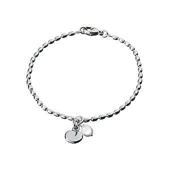 Kalevala Bracelet Women's Twinflower Silver Pearl 2565402VHE185 - Length 185 mm