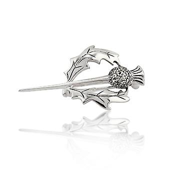 Sterling Silver 0.21ct markazytu Thistle Design Broszka