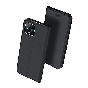 For google pixel 5 case shockproof anti fall flip flap cover black