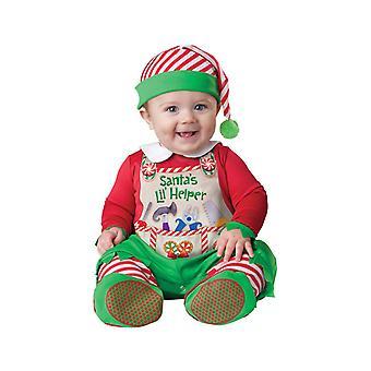 Kids Baby Santa's Little Helper Elf Christmas Fancy Dress Costume