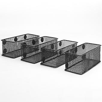 Magnetiske oppbevaringskurver for kontorer – pakke med fire | Pukkr