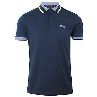 Hugo boss athleisure paddy 1 men's navy polo shirt