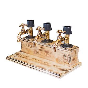 Fars dag sprit alkohol whisky trä dispenser kran form för fest middag barer och dryck