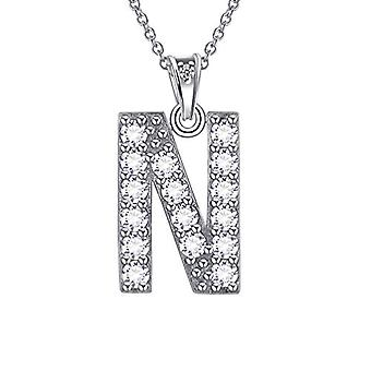 Besilver FP0073A - Letter-shaped pendant necklace of the alphabet, in Sterling Silver 925, with Crystals, with Ref monogram. 8431228533834
