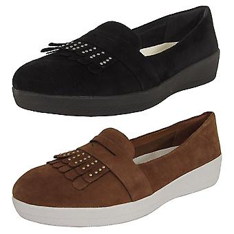 Fitflop Femmes Cloutée Fringey Sneakerloafer Chaussures