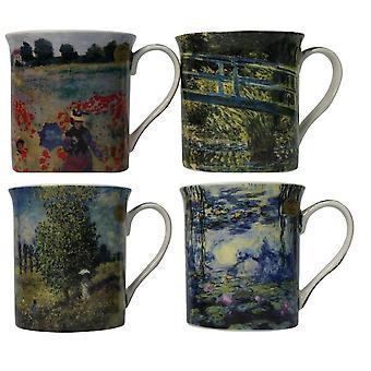 Conjunto de 4 Tazas Claude Monet Set Fine China Multicolor