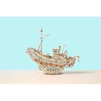 Для 3D деревянных головоломок игры лодка и рыболовный корабль модели игрушки для подарка на день рождения| Наборы инструментов для сборки моделей WS23633