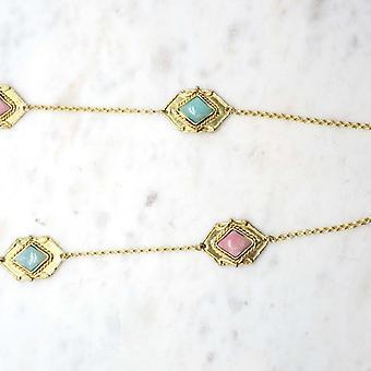 Sautoir  Niiki Paris - NCN141AT - Rose - Collection Colors