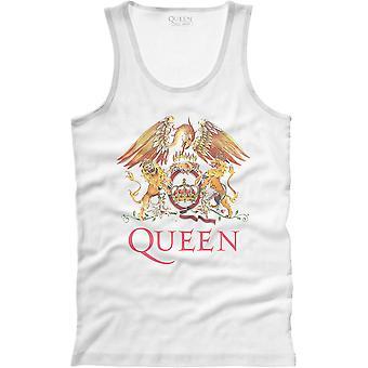 Queen - Classic Crest Men's X-Large T-Shirt Vest - Blanc