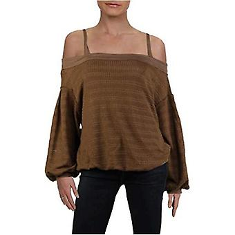 Free People Mujer Sistine Hacci Knit Cold Shoulder Pullover Sweater