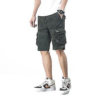 Mens Casual Shorts Workout Fashion Bekväma Camo Shorts andas stora och långa shorts (38)
