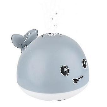 Elektrische automatische Induktion Wasser Jet Wal, Licht und Musik Baby Bad Spielzeug (Grau)