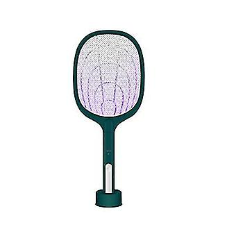 USB Electric Fly Insect Zapper Swatter Bug Mosquito Killer Racket UV Trap Lamp(Green)